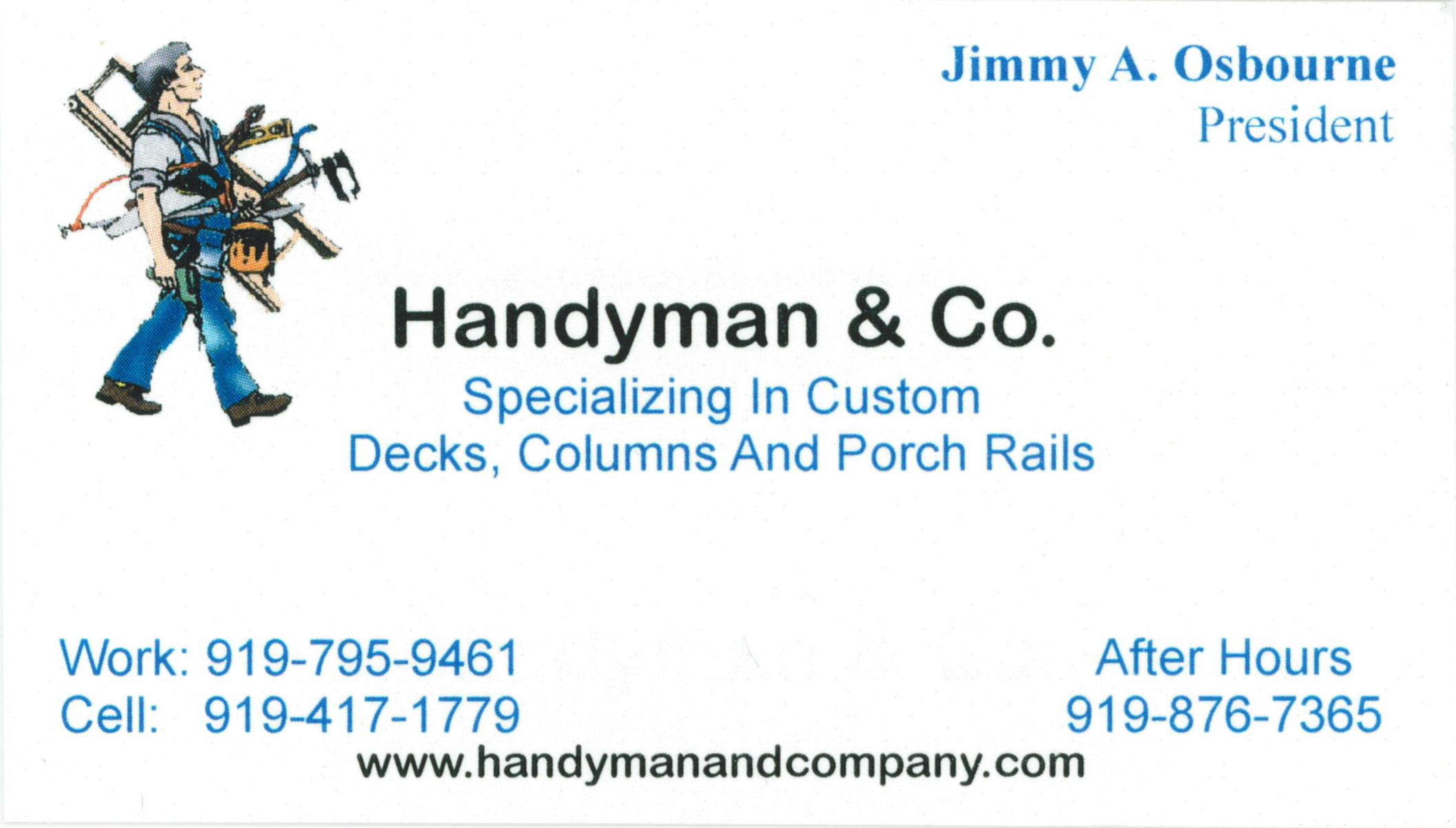 Elegant Pics Handyman Business Cards Business Cards Design Ideas